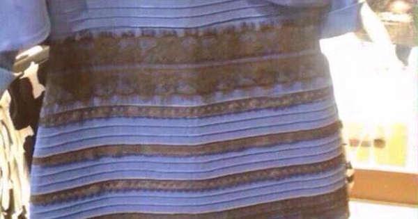 白と金?それとも青と黒?写真のドレスの色が違って見えると大